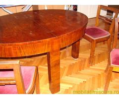 masa sufragerie cu 6 scaune